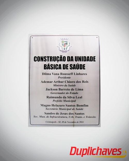 Placa de Inaugurações