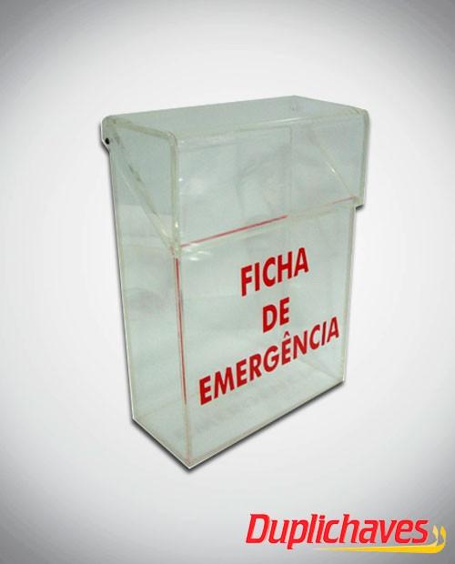 Caixa de Emergência em acrílico