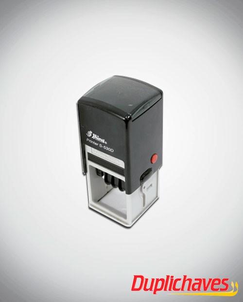 Carimbo datador automático com texto