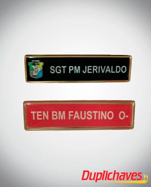 Tarjeta Militar em metal e resinada