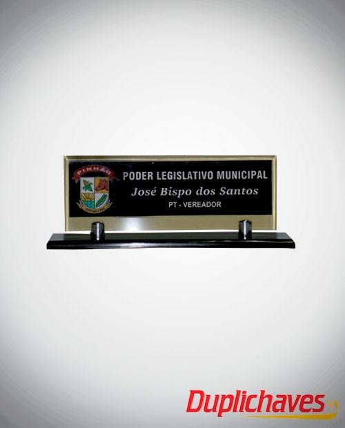 Placa de mesa Câmara de Vereadores